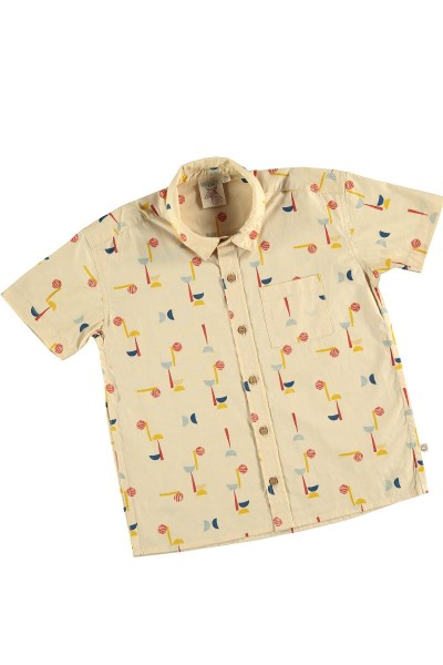 Camisa popelín estampado abstracto