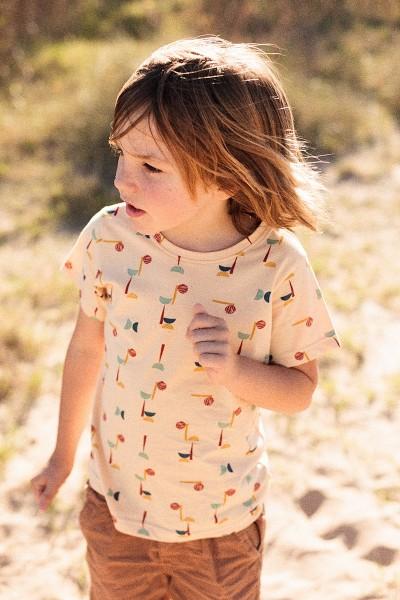 Camiseta unisex estampado abstracto