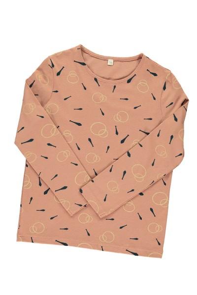 Camiseta unisex rosa estampado malabares
