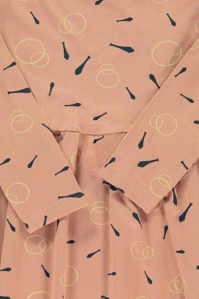 """Vestido """"classic""""rosa estampado malabares"""