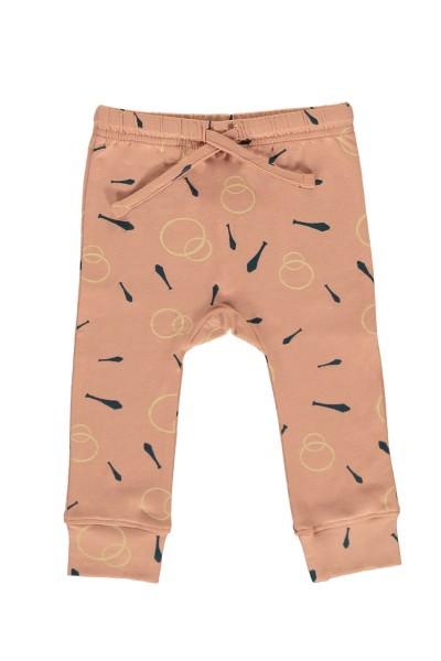 Pantalón bebé rosa estampado malabares