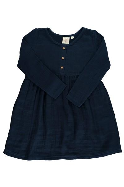 Vestido muselina basic azul marino
