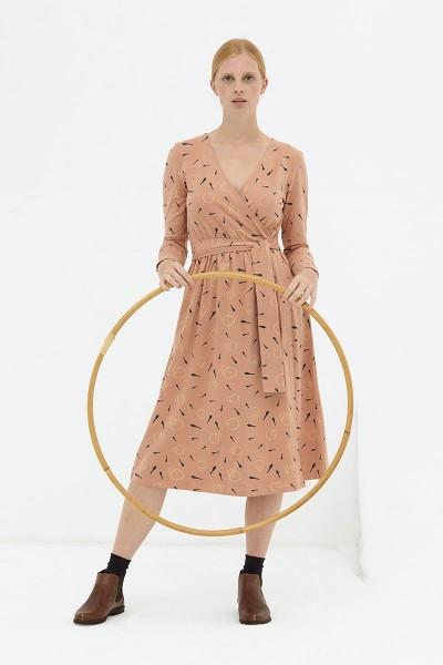 Vestido cruzado rosa pastel Dana