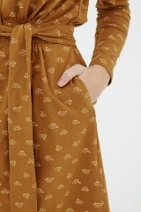 Vestido manga murciélago marrón Dafne
