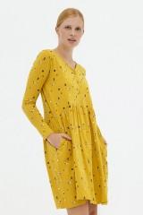 Vestido holgado mostaza Ara