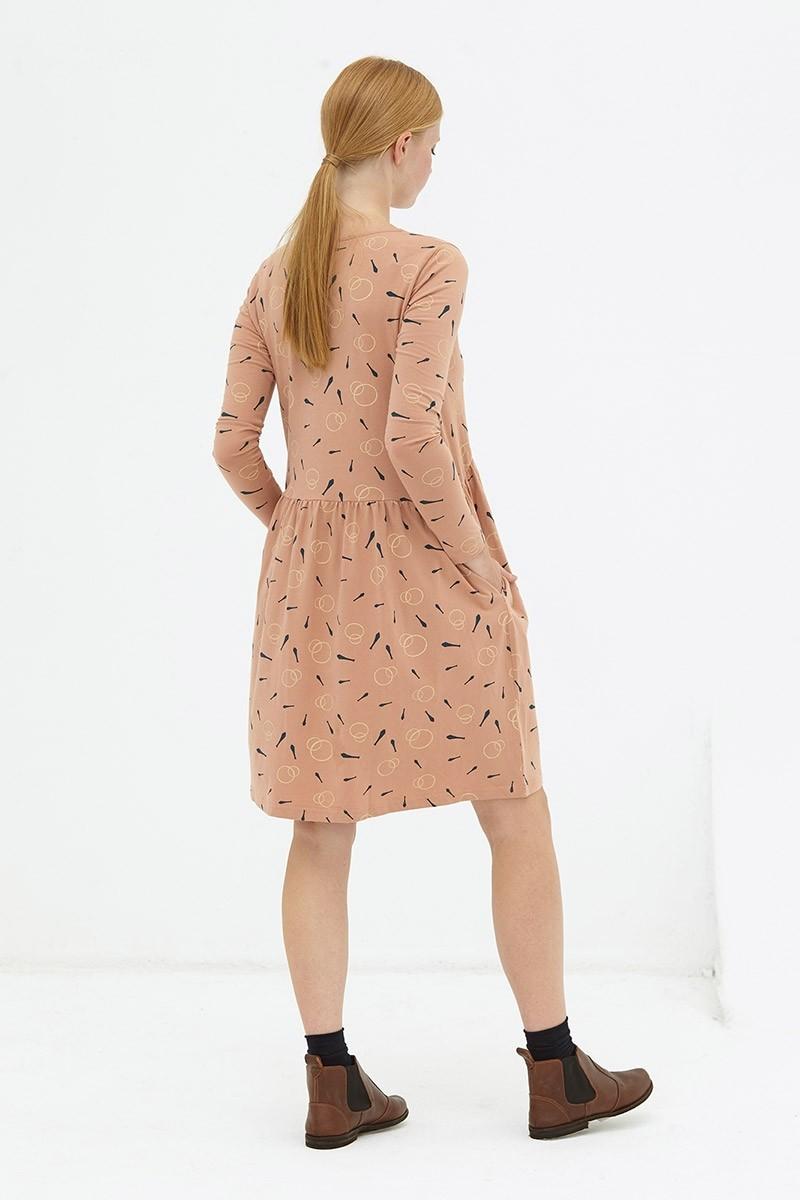 Vestido holgado rosa pastel Daniela