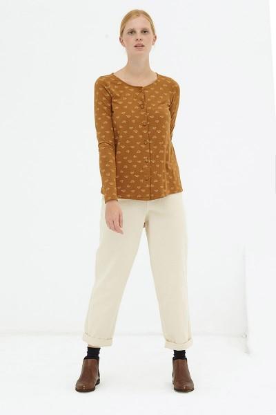 Blusa botones marrón Delia reversible