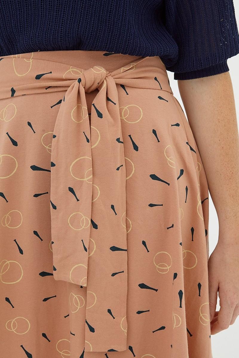 Falda media capa rosa palo Denia