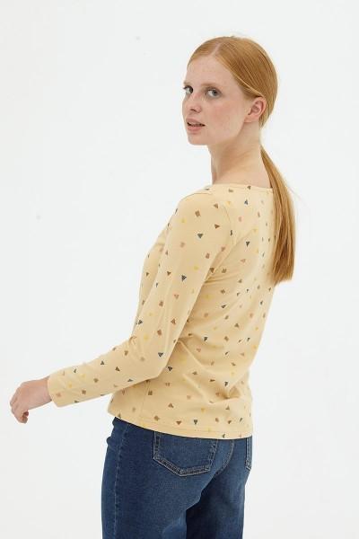 Camiseta básica beige Diana
