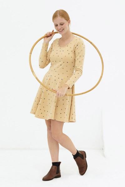 Vestido media capa beige Denisse