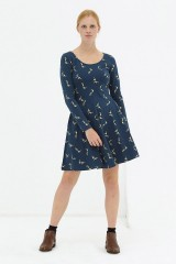 Vestido media capa Navy Denisse