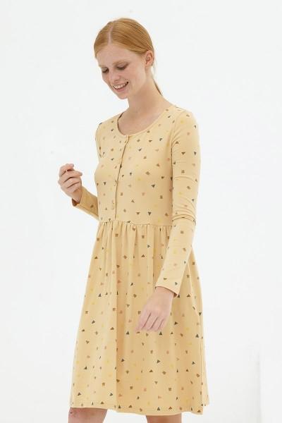 Vestido holgado beige Dayanna