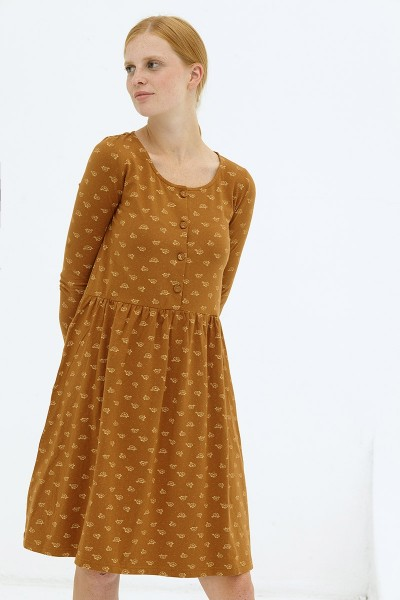 Vestido holgado marrón Dayanna