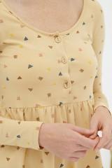 Vestido corte imperio beige Dánae
