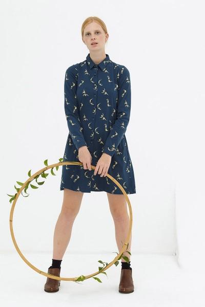 Vestido camisero navy Dorothea