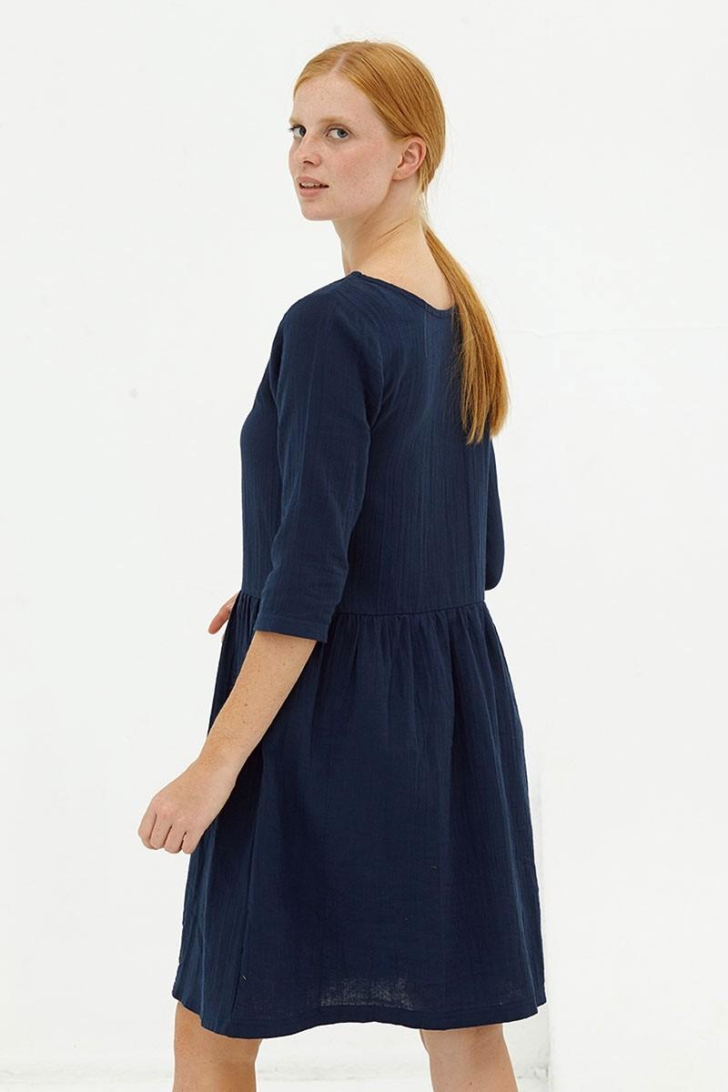 Vestido muselina reversible navy Dorie