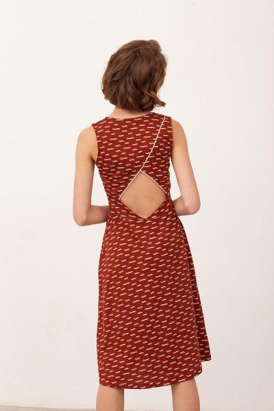 Vestido escote espalda Bianca Teja