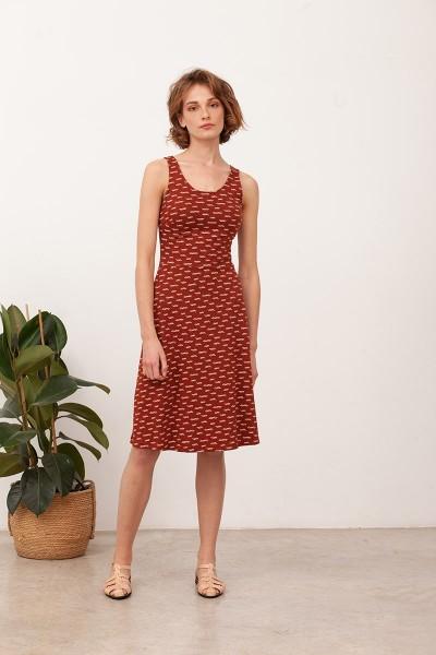 Vestido espalda cruzada Betty Teja