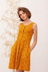 Vestido espalda abierta Belisa Mostaza