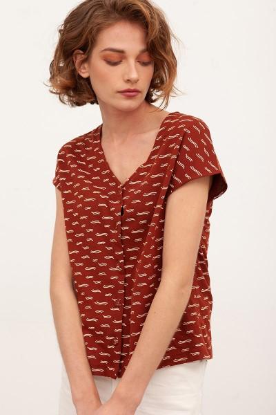 Camiseta ancha Brenda Teja
