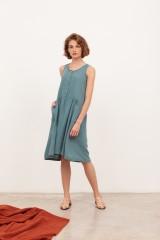 Vestido midi muselina Blossom Azul