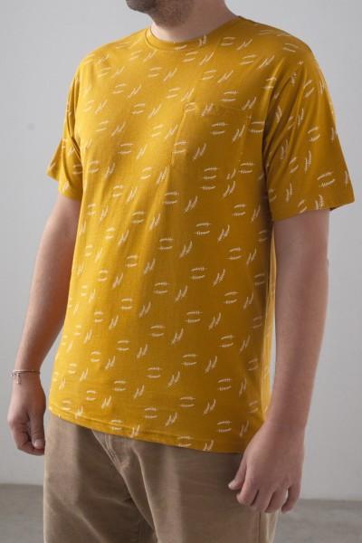 Camiseta Hombre Billie Mostaza
