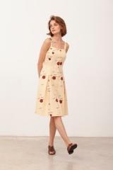 Vestido Tirantes con botones Betsy Beige