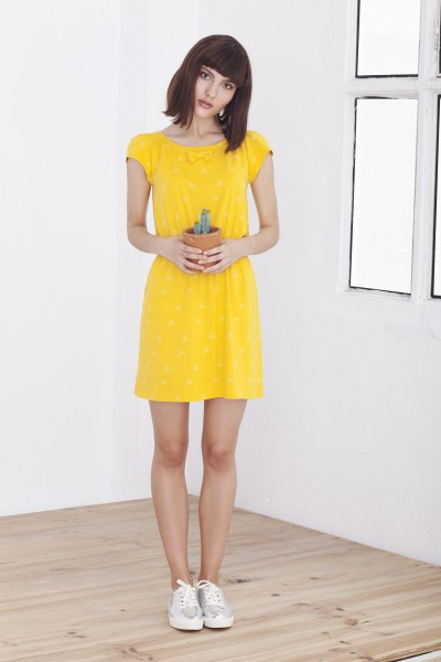 Yellow short sleeve Hila dress