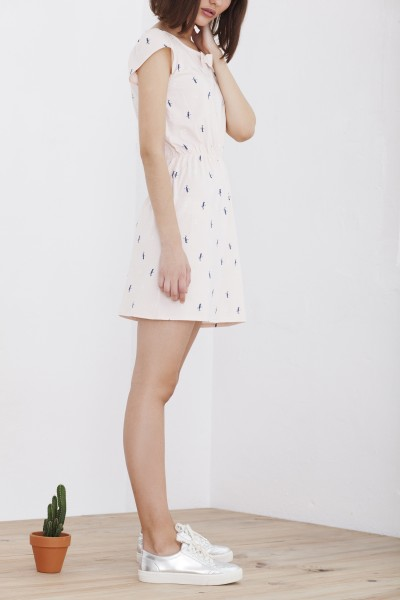 Pink short sleeve Hila dress