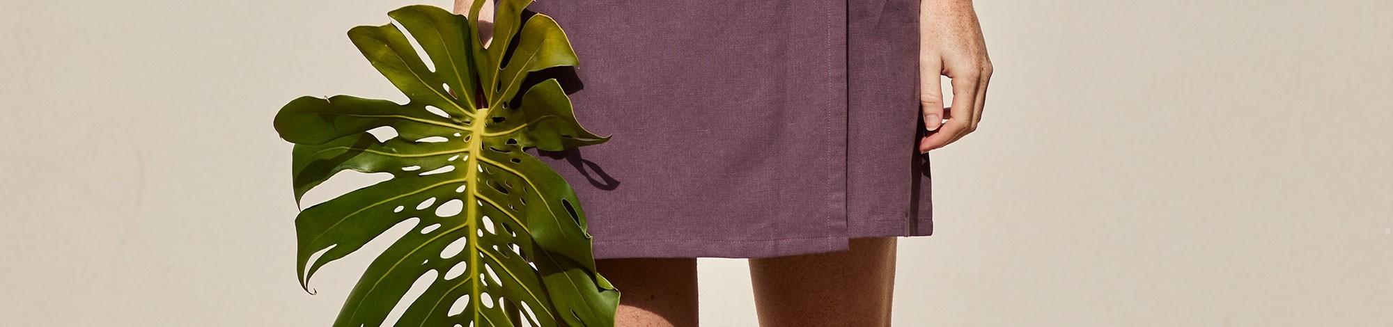 Faldas de algodón organico de comercio justo certificado.